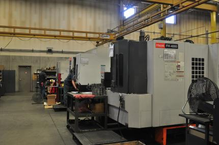 horizontal machine center, coleman tool, industrial contract machining